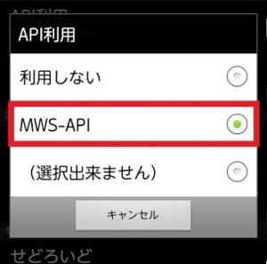 MWS-API設定1