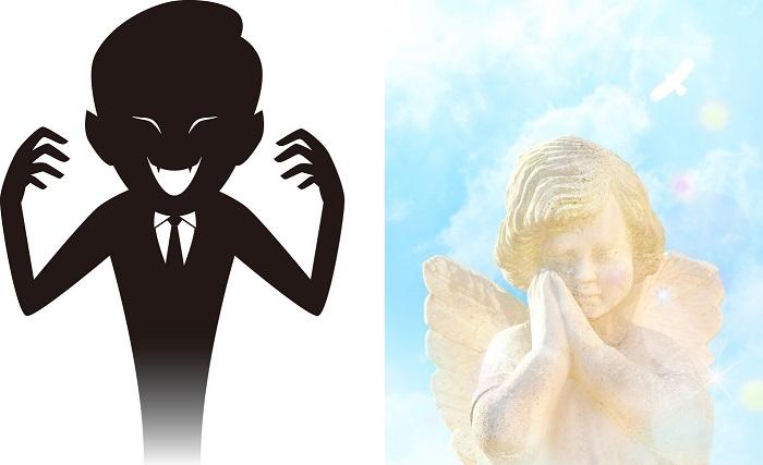 天使と悪魔のイメージ